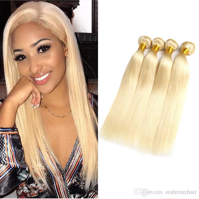 Wholesale Honey Blonde Human Hair Weaves Bundles Color 613