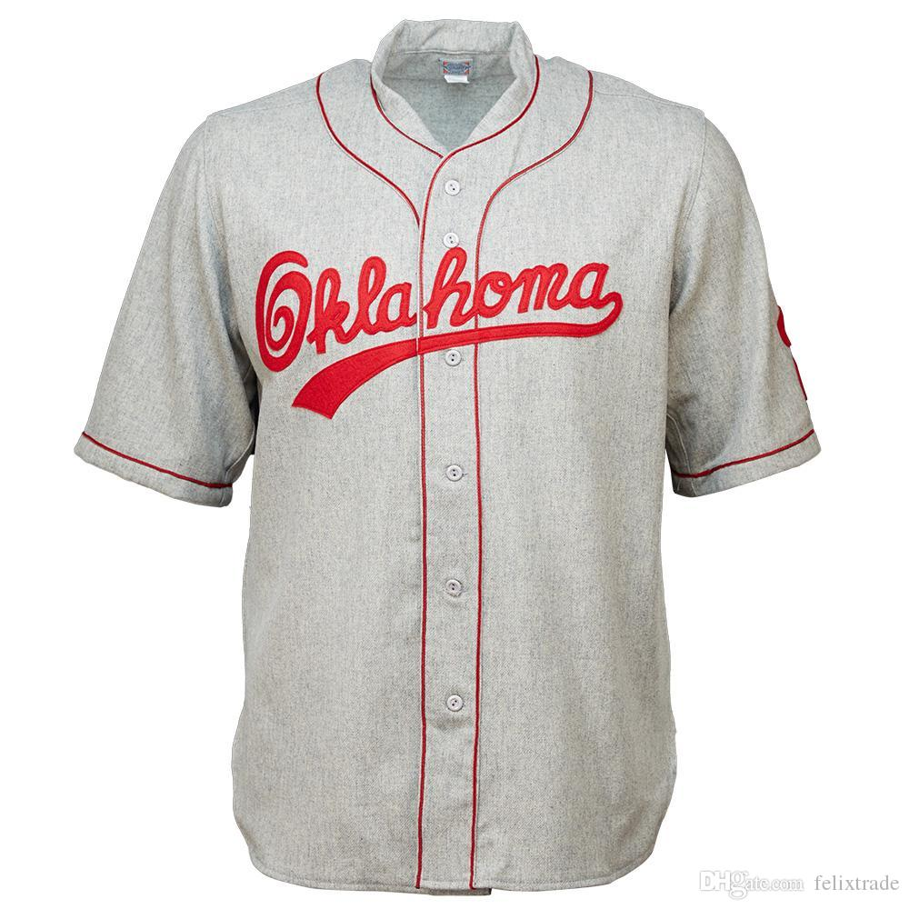 2019 OU Oklahoma Sooners University Of Oklahoma 1937 Road Double Stiched  Name   Number   Logos Baseball Jersey For Men Women Youth Customizable From  ... 4378c6a2f