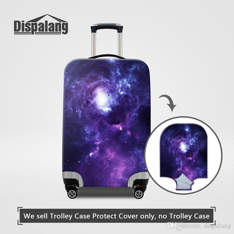 Women's Fashion Portable Elastic Travel Luggage Protective Cover For 18-30 Inch Suitcase Galaxy Stars Design Anti-Dust Rain Covers Wholesale