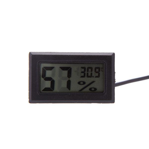 Mini Digital LCD Termómetro Higrómetro Temperatura Humedad Medidor Medidor Termómetro sonda Negro blanco en caja de venta