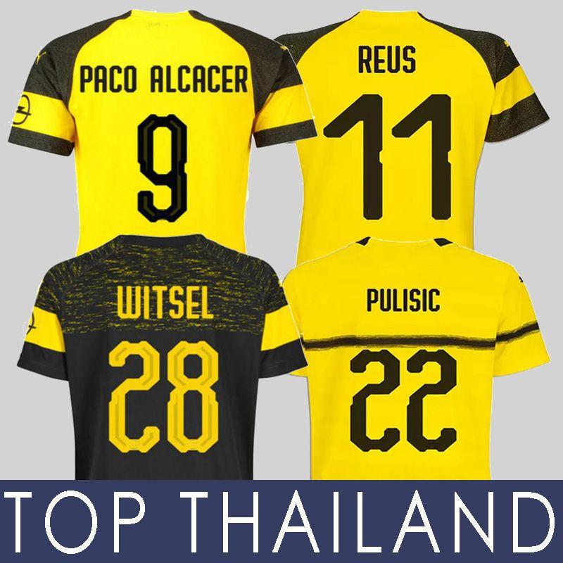 2018 18 19 Pulisic Soccer Jersey Marco Reus Football Shirt Kagawa ...