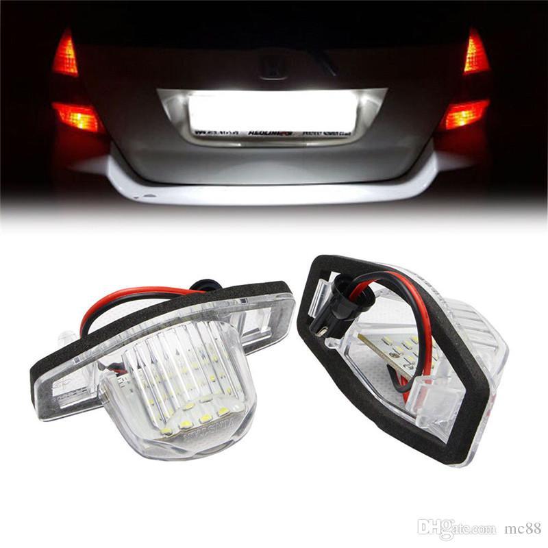 1set Led Kennzeichen Kennzeichenbeleuchtung Lampen Für Honda Jazz Odyssey Stream Insight Logo 3d