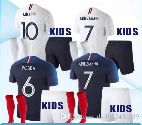 ec9fa16d7c2 2018 1 Star World Cup Kids MBAPPE GRIEZMANN Soccer Jerseys 18 19 DEMBELE  POGBA PAYET Maillot De Foot Football Shirts Kits Soccer Jersey Track Suit  Online ...