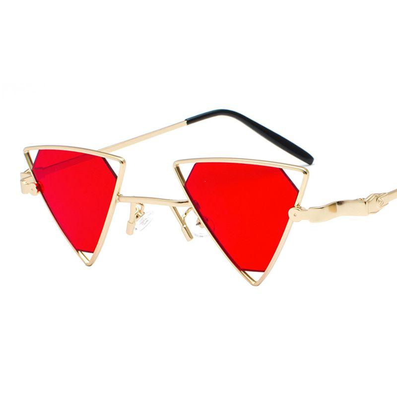 ce0ccb54206fa0 Vintage Punk Stijlen Vrouwen Driehoek Zonnebril Mode Mannen Hol Rode Lens  Zonnebril UV400 Designer Merk Brillen L178 Knockaround Sunglasses Sunglases  From ...