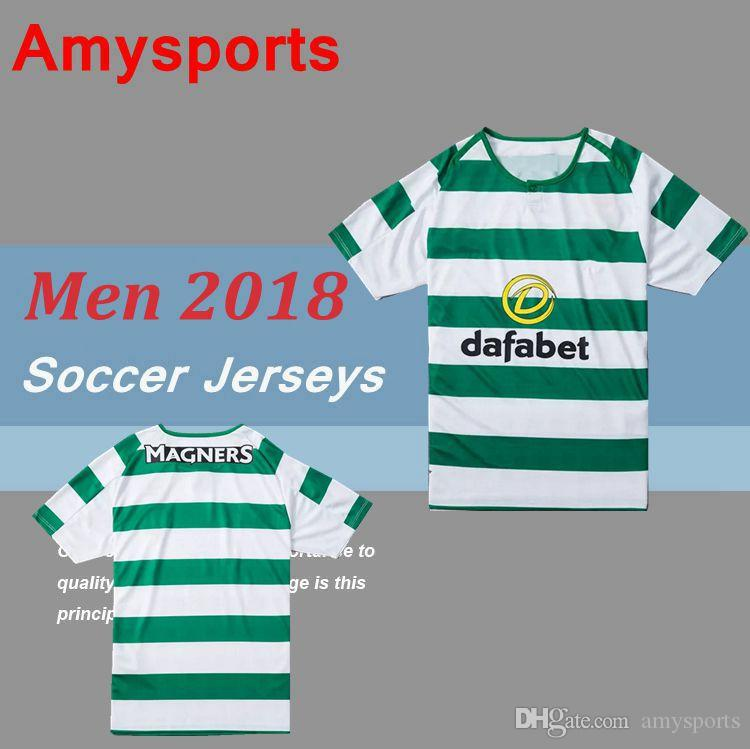 c3d9c0284 2019 SINCLAIR Home Green White Soccer Jersey 18 19 DEMBELE Away Soccer  Shirt 2018 Customized BROWN GRIFFITHS Football Uniform Sales From  Amysports