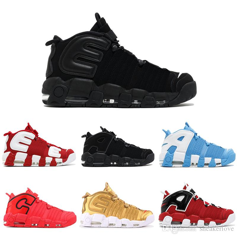 65a983ea7f4b More UPTEMPO Basketball Shoes GS Olympic Chi Qs Chicago 96 Bulls UNC Cool  Grey White Metallic Gold Men Sport Sneakers Shoes Basketball Girls  Basketball ...