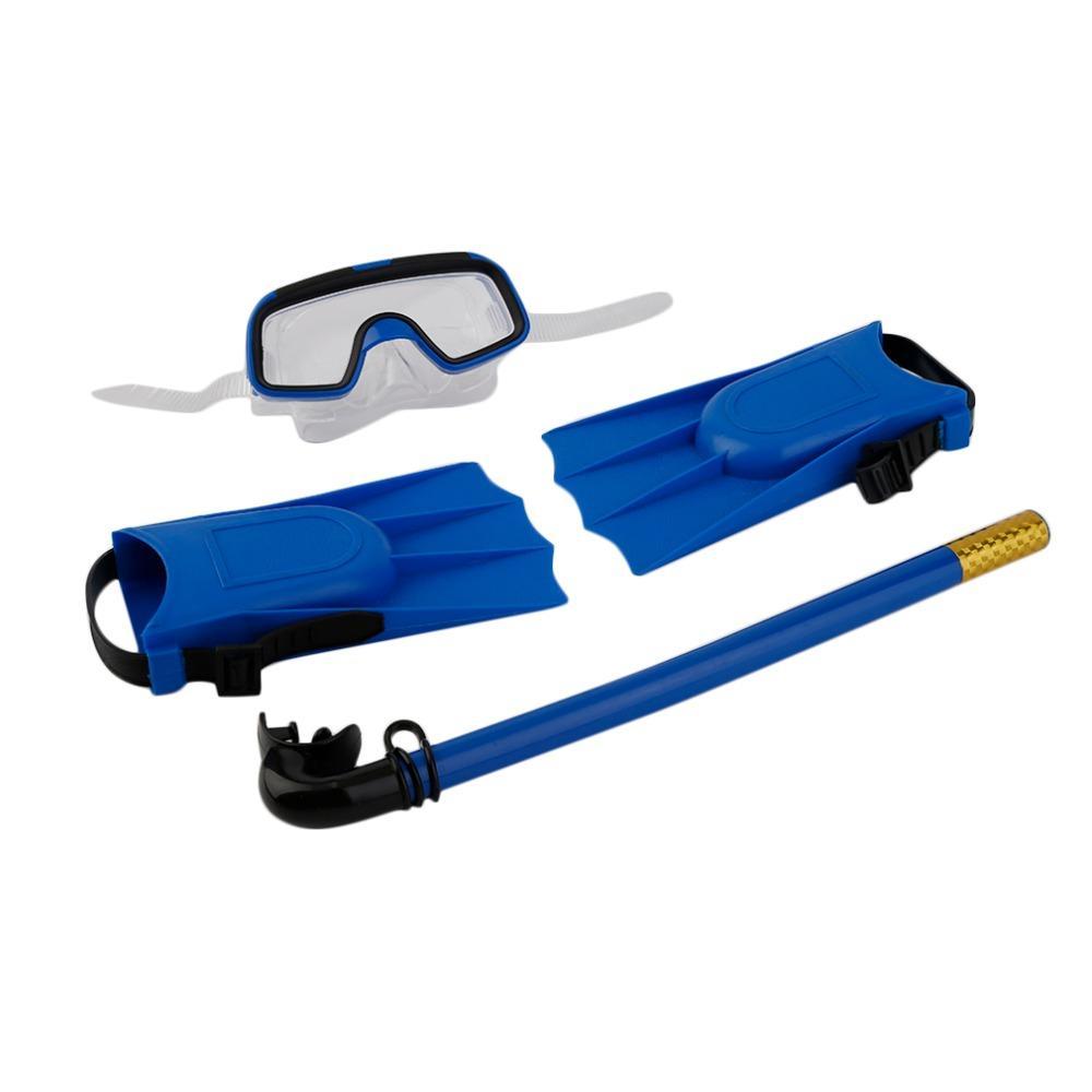 8b3bf80ba Compre 1 Conjunto Para Crianças Snorkeling Máscara De Mergulho Tubo De  Respiração Barbatanas Longas Pé Barbatanas Snorkels Conjunto De  Equipamentos De ...
