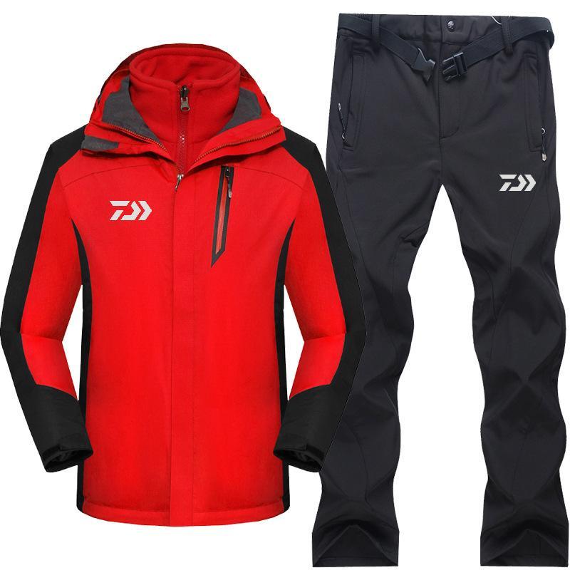 Compre 2019 Conjuntos De Roupas De Pesca De Alta Qualidade Homens Respirável  Sportswear Terno De Inverno Ao Ar Livre Outono Camisa Quente De Pesca E  Calças ... 49bc1ba184b35