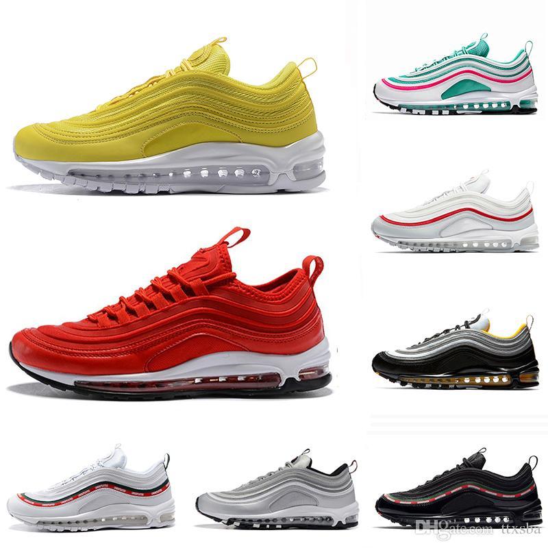 d1e81b4063f 97 Running Shoes for Men Women Black Bullet Triple White OG Sliver ...