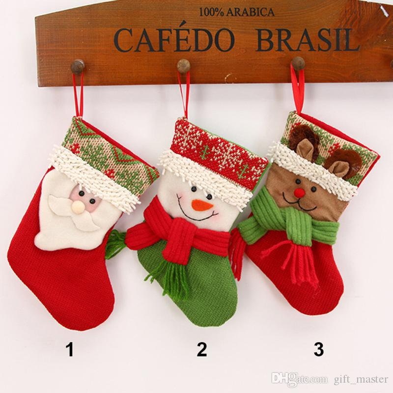 Small Mini Christmas Stocking Cute Beautiful Knit Craft Socks Xmas ...