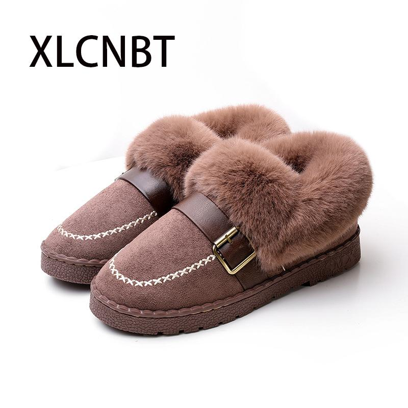 52675930bfc0 Cotton Slippers Women Outer Wear Shoes Keep Warm Covered Heel Indoor Winter Slipper  Non-slip Home Indoor Thick-bottomed Plush Online with  48.23 Pair on ...