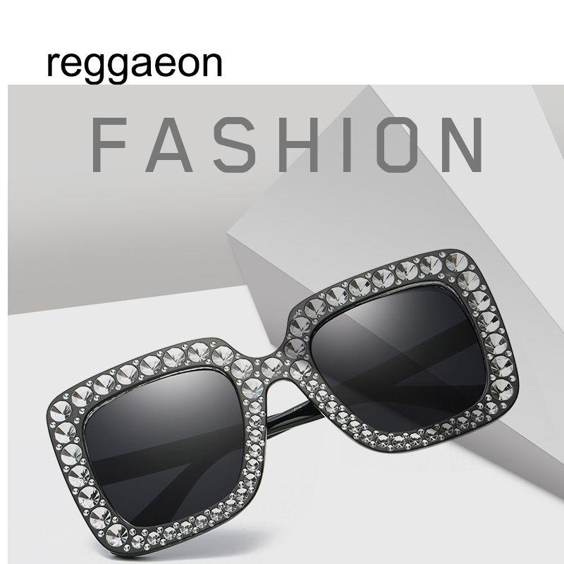 Compre Marca Designer Mulheres Luxo Quadrado Oversized Diamante Uv400 Óculos  De Sol Das Senhoras Novo Espelho Óculos De Sol Para Oculos Feminino De  Huteng, ... 91ed7b07b2