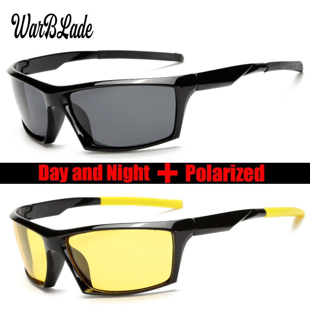 fcf9357245 Men Brand Design Classic Polarized Sunglasses Male Driving Sun Glasses  Fashion Night Vision Glasses Goggles UV400 Gafas Eyewear Black Sunglasses  Cycling ...