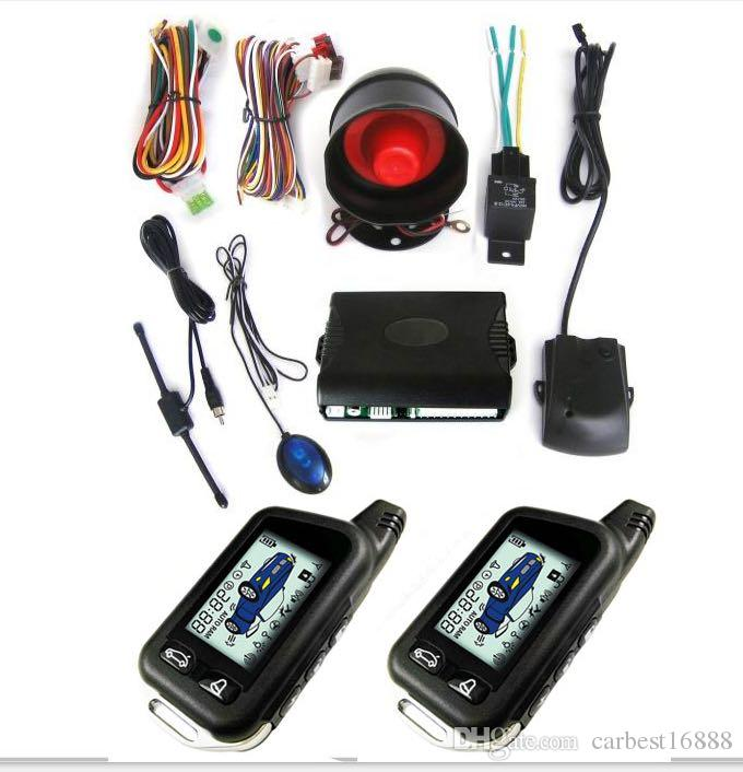 CarBest New Vehicle Security Paging Car Alarm 2 Way LCD Kit Automatic | Keyless entry system|Car Burglar Alarm System