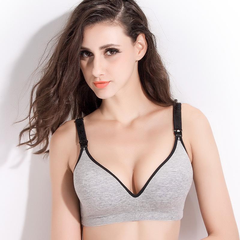 128deb32c Compre Pós Parto Mulheres Amamentação Sutiã De Amamentação De Algodão  Sólido Empurrar Para Cima De Alimentação Do Sexo Feminino Maternidade Bras  Underwear ...