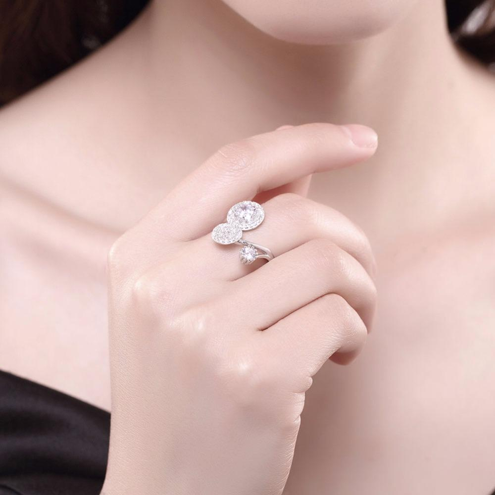 Ubic Zirconia Ring Adjustable Ring Design Styles Solid 925 Sterling ...