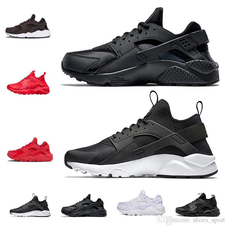 uk availability e96eb 5cb9f New Huarache 1.0 4.0 Running Shoes For Men Women,White Black Sneakers  Triple Runs Athletic Huraches Sport Shoes Trainers Shoes Woman Running Shoes  From ...