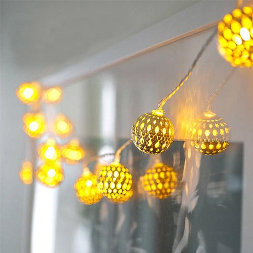 LED Globe String Lights,Gold Moroccan for Bedroom,Curtain,Patio,Fairy Garden,Home,Wedding,Holiday,Christmas Tree,Party (Warm White)