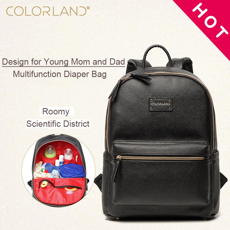 98b96c6f3d 2019 Diaper Bags Backpack Fashion Mummy Nappy Changing Maternity Bag Baby  Care Organizer For Mom Dad Mother & Kids Travel COLORLAND From Yohkoh, ...