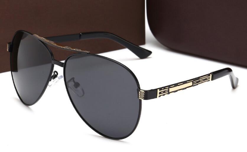 2de528efc9f High Quality New Men s Polarized Metal Sunglasses Fashion Big Frame ...