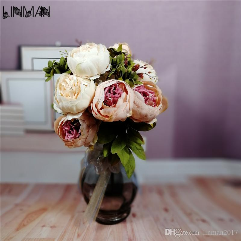 2018 1 bouquet european pretty wedding peony artificial silk flower 1 bouquet european pretty wedding peony artificialg mightylinksfo