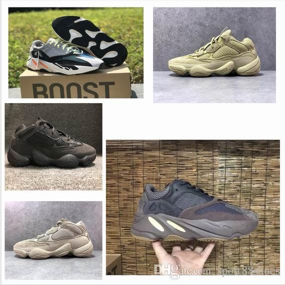 4e3bd775ab15c9 2018 New Mauve 700 Running Shoes Kanye West Wave Runner Originals Grey  White Orange OG B75571 Classic Athletic Sport Sneakers Outdoor Traine Shoes  Sports ...
