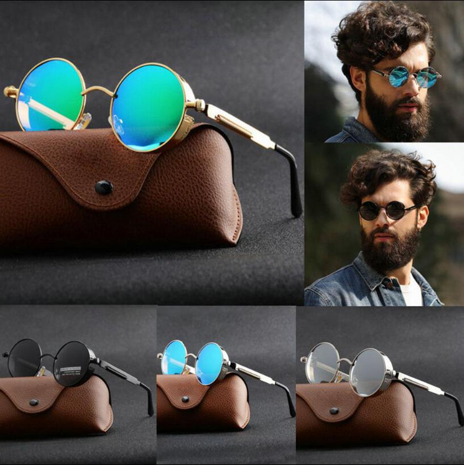 e31f9965ff Vintage Retro Polarized Steampunk Sunglasses Fashion Round Mirrored Eyewear  Vintage Shield Eyewear Shades Steampunk Sunglasses OOA4830 Cheap Eyeglasses  ...