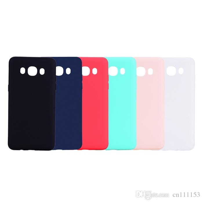89d06c62ccb Fundas Para Celulares Estuche Para Samsung Galaxy J3 J5 J7 2016 2017 J2 Pro  2018 J3 Pro 2018 Frosted Back Cover Color Sólido Simple Suave TPU Fundas  Por ...