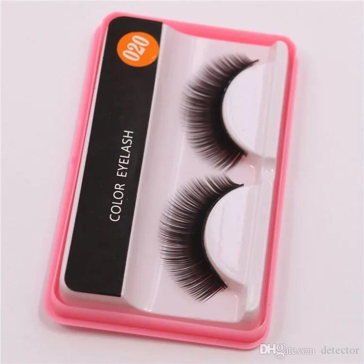 Sıcak Satış Marka Yanlış Eyelashes El Yapımı Doğal Uzun Kıvırmak Kalın Sahte Göz Kirpik Uzantıları Siyah Renk Kirpik Göz Makyaj Kullanımlık Lashes