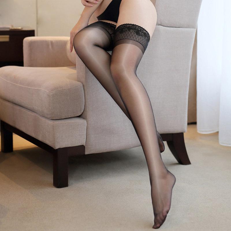 2019 new woman stocking shine lace sheer overknee stockings women