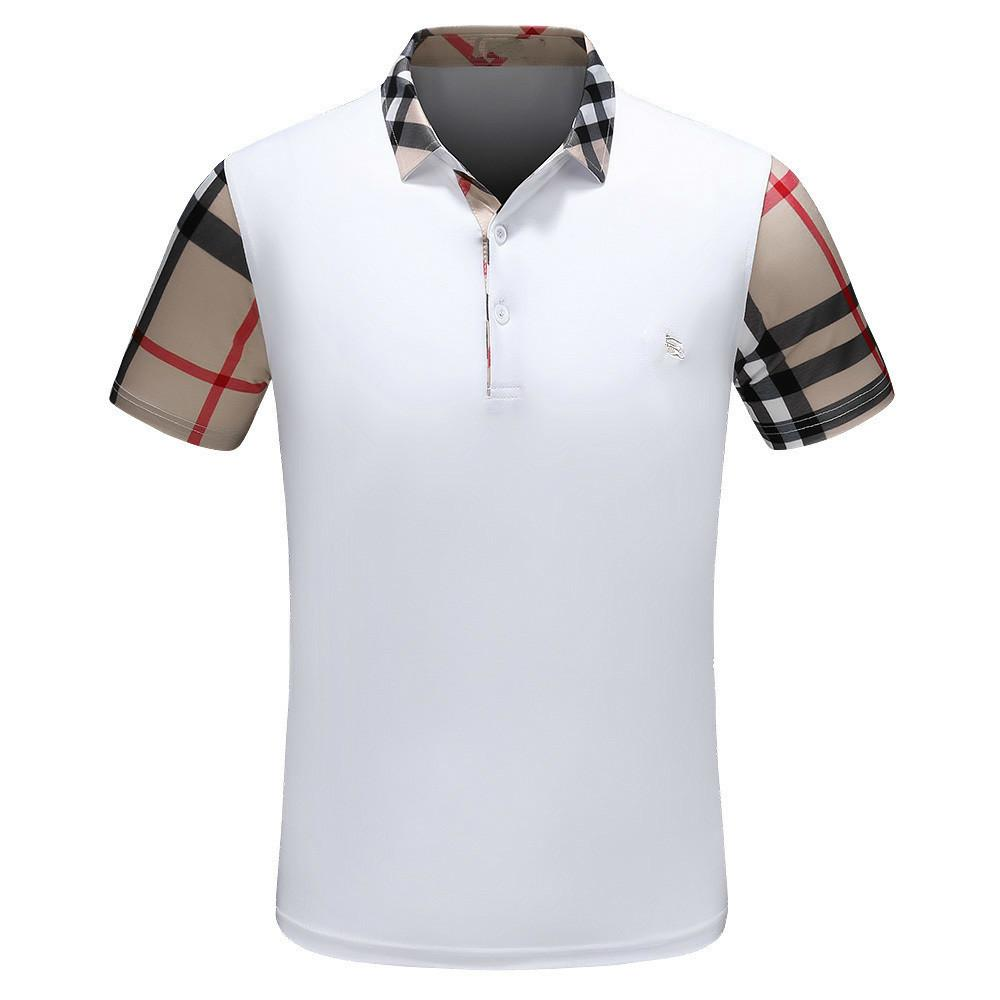 Polo Shirts For Men Full Size Anti Pilling Street Tide Brand Male