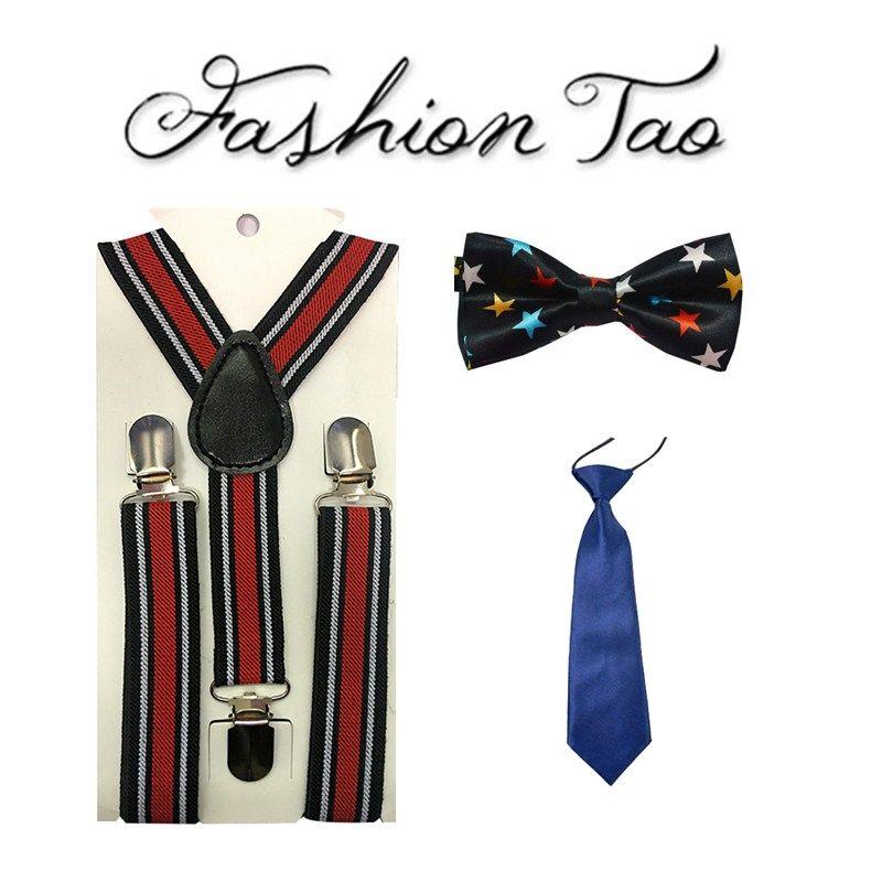 4b581e28371 NEW Children Baby Boys Kids Suspenders Tie Bowtie Set 3 Clip On Elastic  Adjustable Braces Straps Clothing Accessories QLYC0538 Mens Suspenders  Suspender ...
