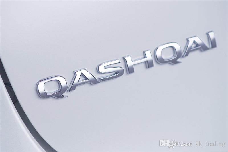 Etiqueta engomada del emblema de la insignia de Qashqai del ABS para el logotipo del tronco de la cola posterior de Nissan Qashqai Emblema de la insignia de la marca Sitker