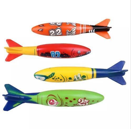 Torpedo Rockets Toy Torpedo Dive Swim Sticks Piscina Vasca da bagno Vasca da bagno Fun Nuoto Divertimento Scivola sotto l'acqua Giocattolo bambini