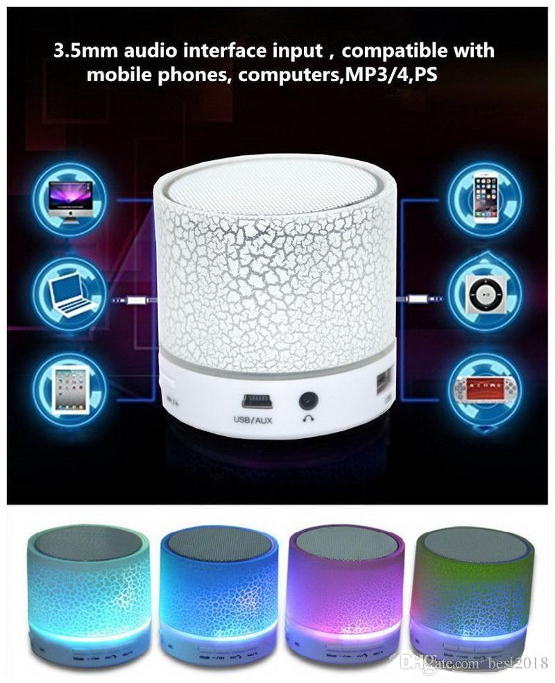 A9 LED Portable Mini Bluetooth Speakers Wireless HandsFree Speaker With TF USB FM Mic Blutooth Music For Android & iPhone