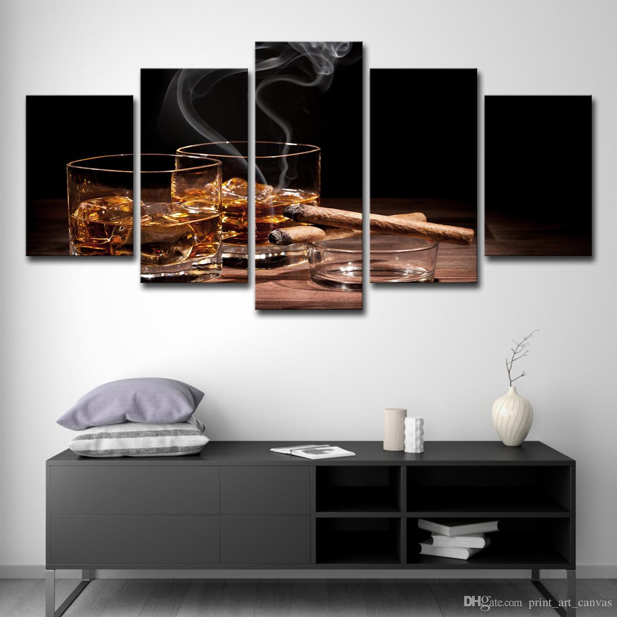 2019 Canvas HD Prints Poster Kitchen Wall Art Pictures Ice Foreign Wine  Glass Cigar Paintings Bar Dinning Decor From Print_art_canvas, $16.41 |  DHgate.Com