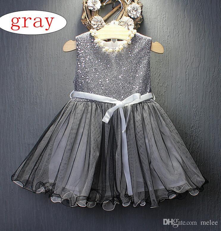 1a32481a9 INS Girls Sequins Princess Dress Kids Tulle Lace Sleeveless Dress Dresses  Baby Girls Fashion Princess Party Tutu Dress Children s Clothes Girls Bow  Slip ...
