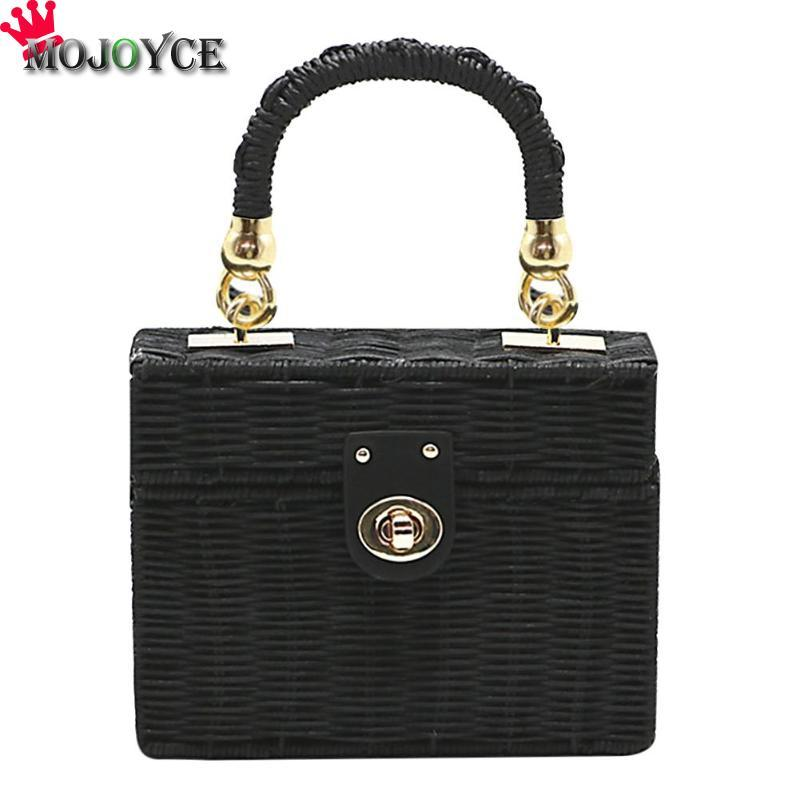 668138a5f533 Fashion Women Straw Crossbody Bag Summer Handmade Beach Chain Messenger  Shoulder Bag Case Box Wicker Woven Rattan Travel Relic Purses Fashion Bags  From ...