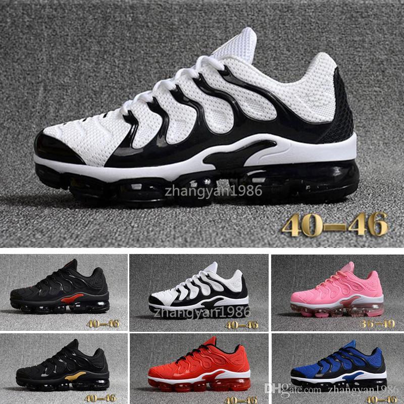 hot sale online 96d02 3c10c Compre Nike TN Plus Vapromax KPU 2018 Nuevos Vapormax TN Plus Hombres  Zapatos Casuales Tns Nanotecnología KPU Material Clásico Durable Mens  Entrenadores ...