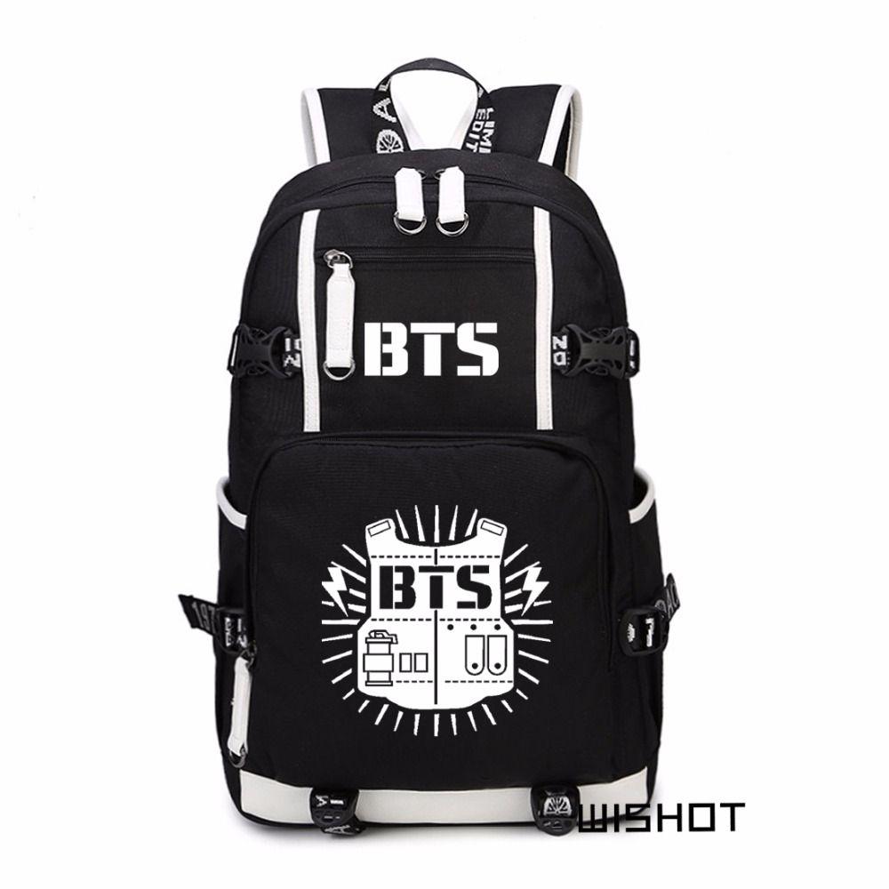 a952ec3021b2 WISHOT Bangtan Boys BTS Korea Backpack Casual Backpack Teenagers Men  Women S Student School Bags Travel Shoulder Laptop Bags Backpacks For Kids  Backpack ...