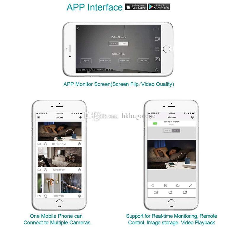 Mini cámara inalámbrica HD 1080P USB Cargador de pared Cámara WiFi Vista remota Cámara de seguridad H.264 Video Recorder Registro de detección de movimiento Mini DV