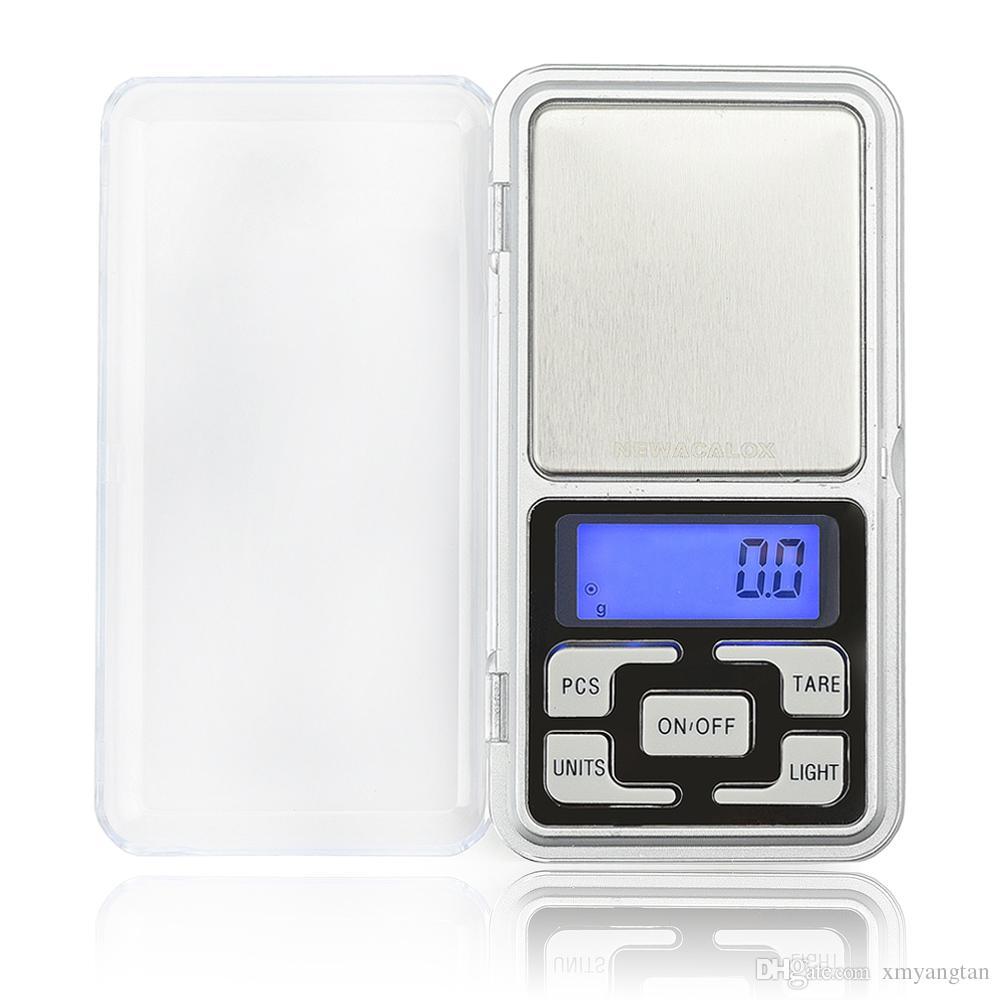 Báscula digital de bolsillo de 500g x 0.1g para escalas de joyería de plata esterlina de oro 0.1 Unidades de visualización Escalas electrónicas de balanza de gramo