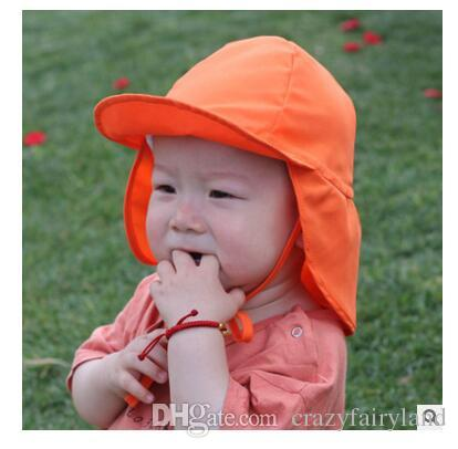 2019 Summer Boys Girls Sun Hat Anti UV Swim Hat Outdoor Soft Beach Hat Neck  Ear Cover Flap Cap UPF UV Protection DHL From Double hh 93a025fb99c