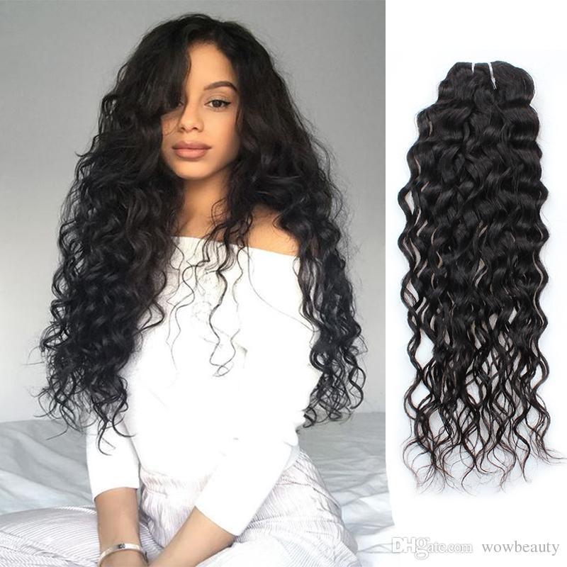 Indian Water Wave Bundles 13human Hair Weave Bundles Hair
