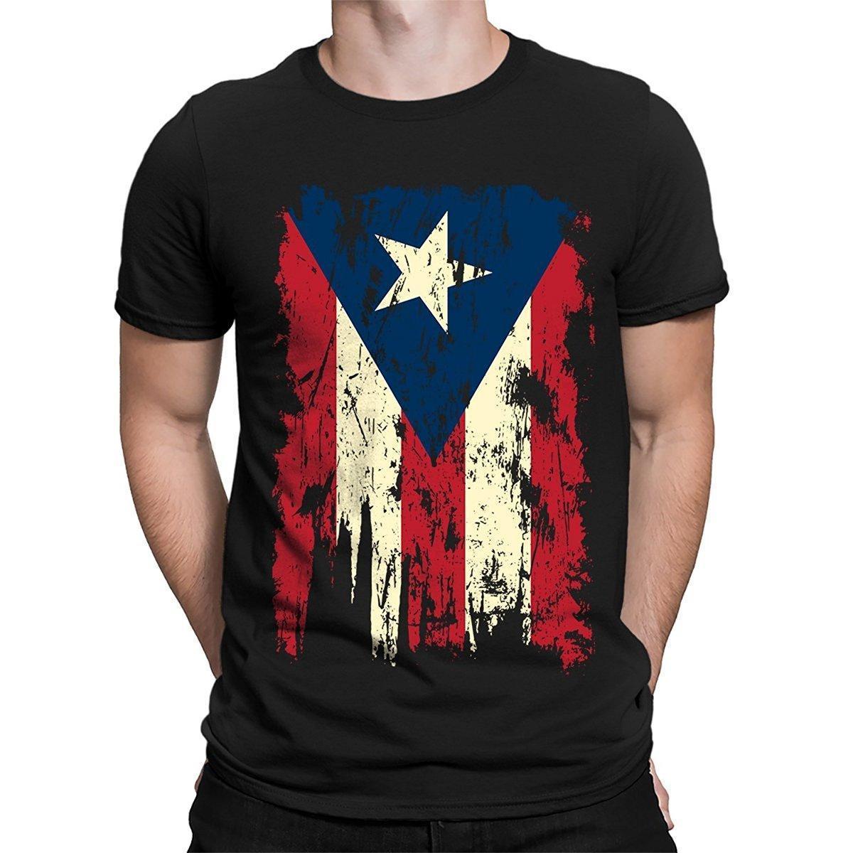 ab6a07836 Vintage Distressed Puerto Rico Flag Men S T Shirt