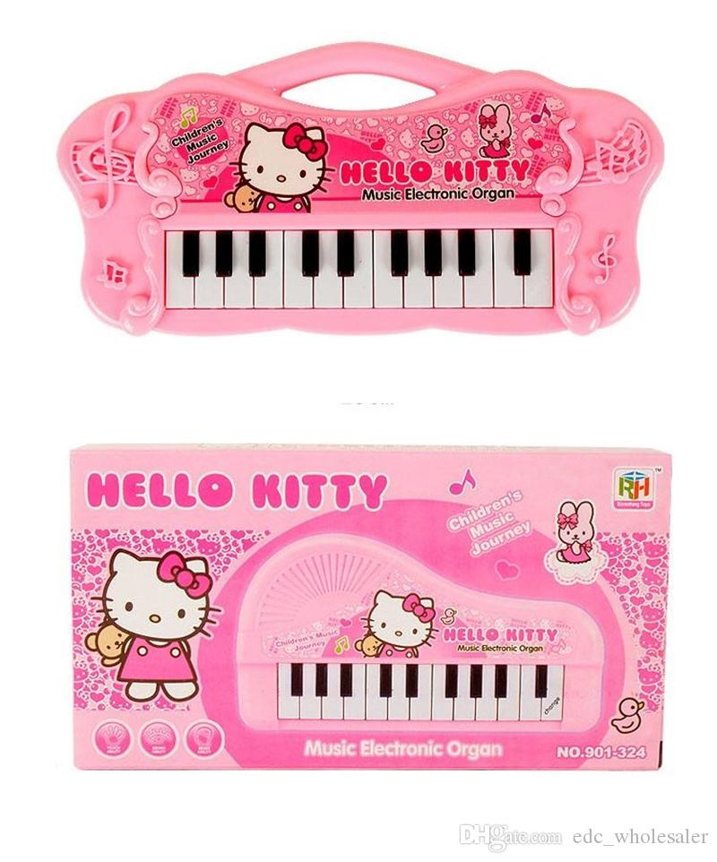 Pink Musical Instruments Toy For Kids Girl Cartoon Electronic Organ