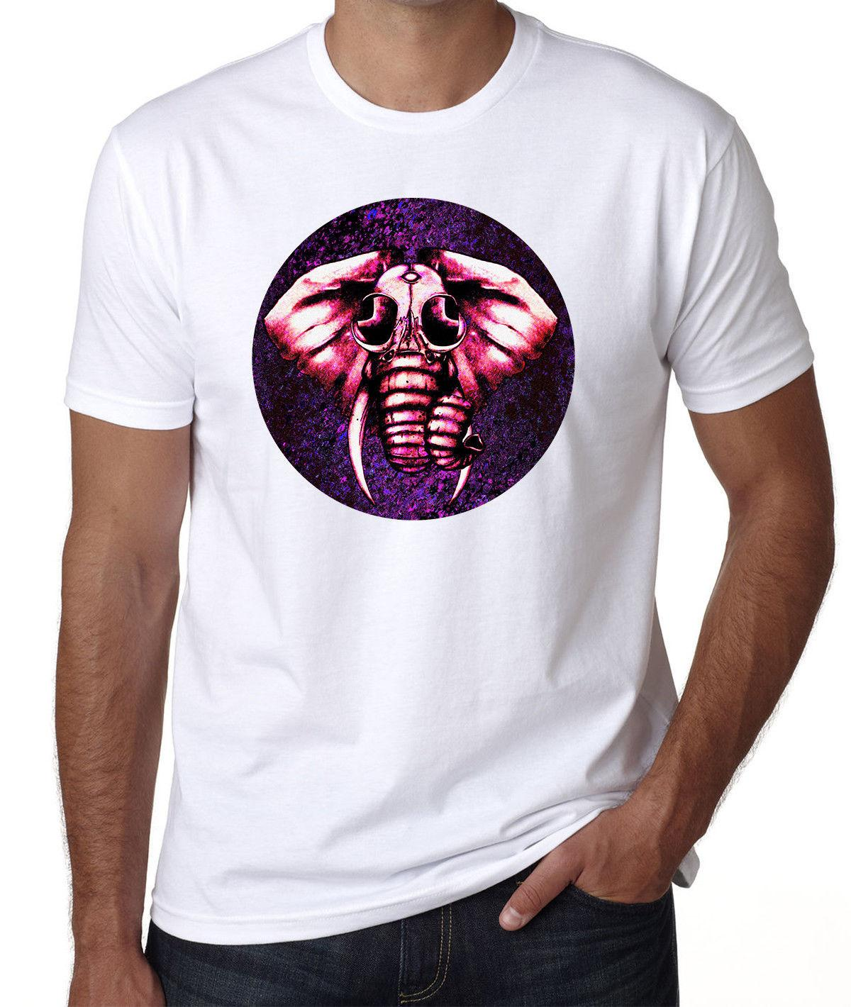 53da5878bb62c1 Cosmic Hallucination Glitch Elephant Graphic Men S Printed White Cotton T  Shirt Cotton Fashion Men T Shirt Colour Funny Printed T Shirt Site Online  Tees ...