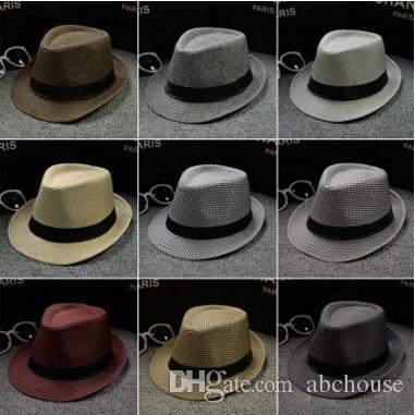 9530347be3b Fashion Men Women Cotton Linen Straw Hats Soft Fedora Panama Hats ...