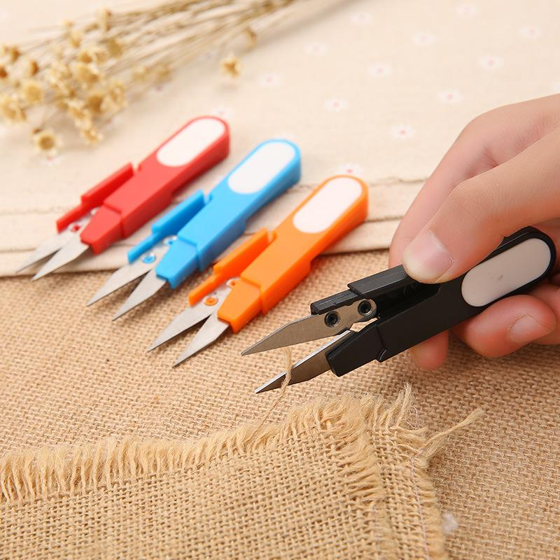 Stainless Steel Tailor Scissors Practical Sewing Embroidery Thrum Snips Scissors Yarn Fishing Thread Beading Clipper Sturdy Mini Tool DH0005
