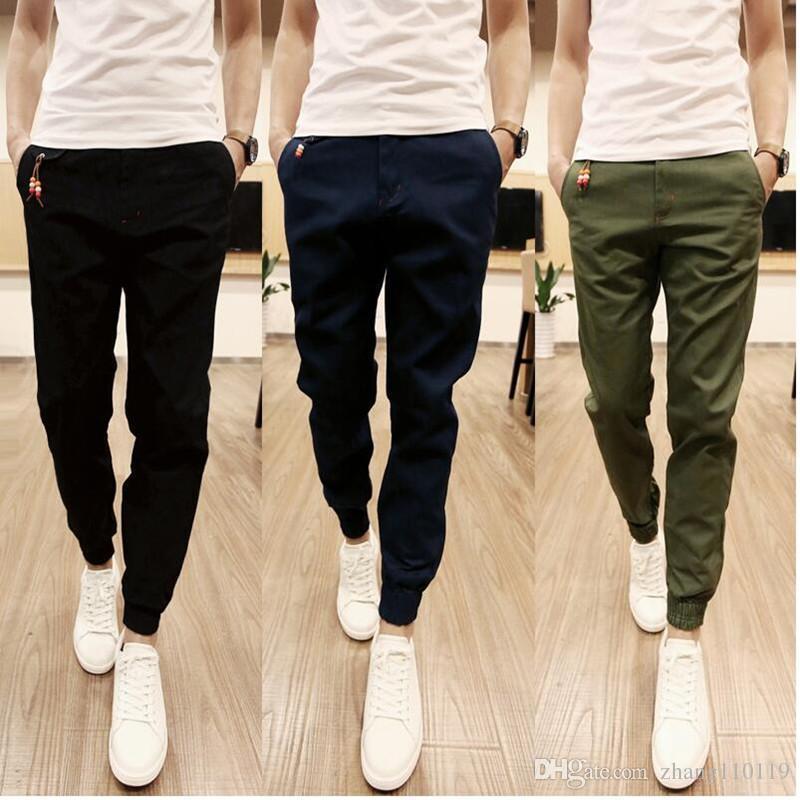 Compre 2018 Nuevo Diseño Moda Hombres Pantalones Casual Algodón Hombres  Jogger Pantalones Ocio Pantalones Hombres Pantalones Talla S 3XL A  16.73  Del ... 4f9dea07fa6e